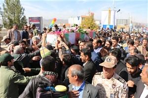 پیکر مطهر دو شهید گمنام دفاع مقدس در یاسوج تشییع شد