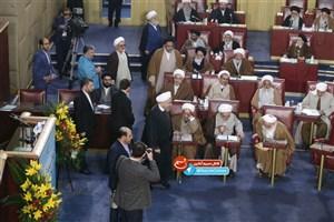 ورود رئیس جمهور به اجلاس خبرگان رهبری/ عکس
