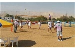قهرمانی تیم بیمه آسیا در مسابقات والیبال ساحلی ۳ نفره کاپ آزاد جانبازان و معلولین