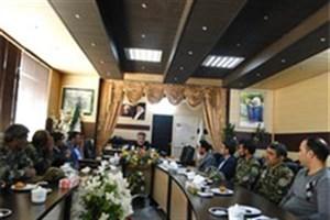 دیدار رئیس و کارکنان منابع طبیعی و ابخیزداری شهرستان با فرماندارنهبندان
