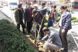 گرامیداشت روز درختکاری و هفته منابع طبیعی در دانشکده سما لاهیجان