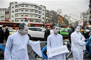 اجرای پرفرمنس هنری ترافیکی در 20 نقطه از تهران