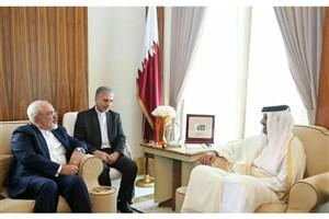دیدار ظریف با امیر قطر