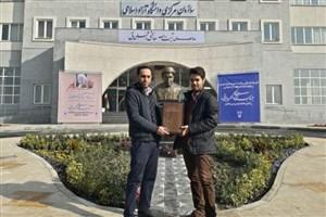 رونمایی المان سخنگو یار دیرین امام و رهبری در اجلاس شورای مرکزی دانشگاه آزاد اسلامی