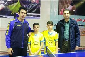 کسب مقام سوم تنیس روی میز مدارس ابتدایی شهرستان سقز توسط دانش آموزان سما
