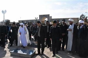 مراسم غبار روبی مزار شهدا به مناسبت فرا رسیدن 22 اسفند روز بزرگداشت شهدا