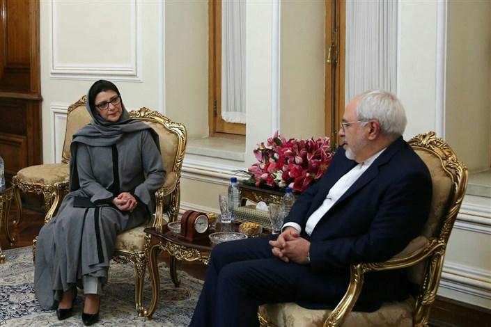 ظریف و نماینده جدید صندوق جمعیت سازمان ملل متحد در ایران