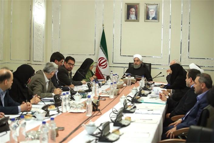 در جلسه شورای عالی محیط زیست و به ریاست روحانی