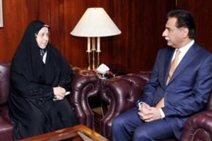 سلحشوری و آقاپور با رئیس مجلس پاکستان دیدار کردند
