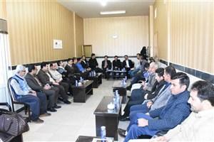 نشست اعضای هیئت رئیسه دانشگاه آزاد اسلامی واحد بوکان با کارکنان به مناسبت پایان سال 95