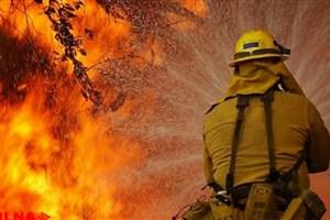 آتش سوزی دفتر حمل و نقل در شاد آباد