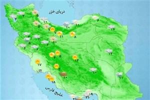 در این نقشه وضعیت آب و هوای شهرهای ایران را ببینید