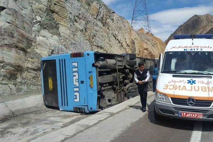 سانحه رانندگی اتوبوس مسافربری در محور زاهدان- زابل