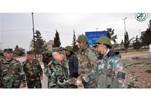 بازدید رئیس ستاد کل ارتش سوریه از جبهههای نبرد در حومه شمالی حما