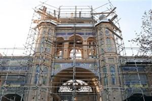 سردر باغ ملی با همکاری دانشگاه تهران مرمت شد