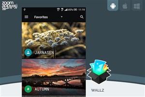برنامه Wallz: آرشیو آنلاین والپیپر با امکان تغییر خودکار تصویر زمینه - زوم اپ