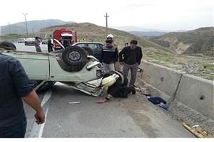 وانت پیکان در جاده آبعلی واژگون شد / حادثه خسارت جانی نداشت