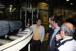 اساتید دانشگاه آزاد اسلامی واحد مرودشت از کارخانه تولیدی لاستیک دنا بازدید کردند