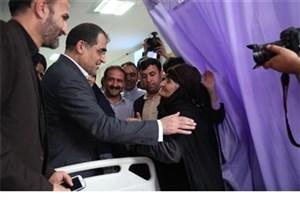 بازدید وزیر بهداشت از بیمارستان امام خمینی (ره) کرمانشاه