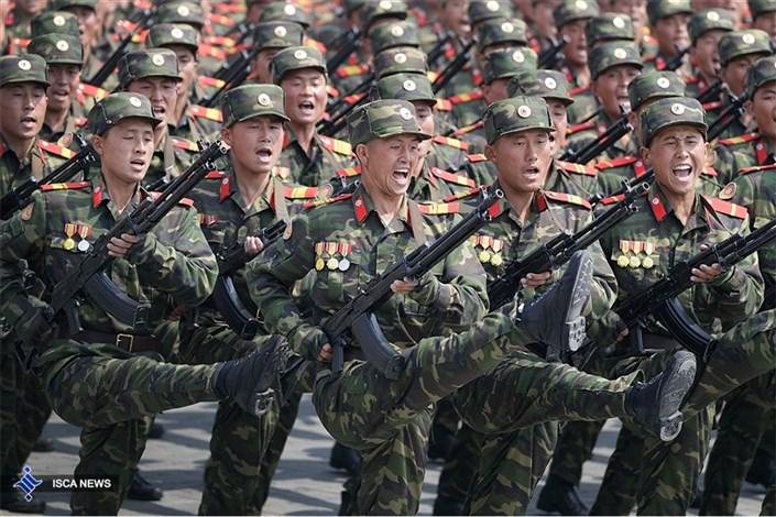 رژه ارتش کره شمالی در روز خورشید