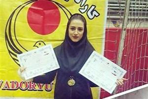 دانشجوی واحد رودهن قهرمان کاراتهسبک وادوریو کشور شد