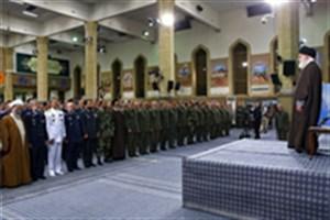 دیدار مقام معظم رهبری با جمعی از فرماندهان ارتش