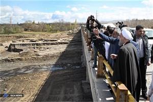 رئیس جمهوری  از مناطق سیل زده آذربایجان شرقی بازدید کرد
