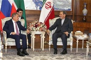 جهانگیری تاکید کرد:  تحریم های غرب فرصتی مناسب برای توسعه مناسبات اقصادی میان ایران و روسیه است