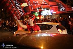 جشن طرفداران تیم پرسپولیس پس از قهرمانی در خیابان ها