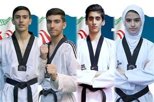 کسب 2 مدال طلا و 2 نقره دیگر برای تکواندوکاران نوجوان ایران