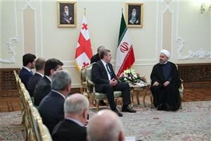 رئیس جمهوری : ایران از گسترش و تعمیق همکاری ها با گرجستان استقبال می کند