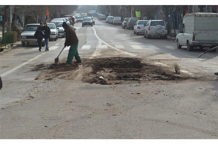 آغاز اصلاحات ترافیکی در خیابان کارگر جنوبی تقاطع  چهارراه لشگر