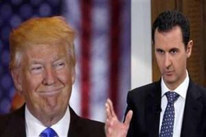 ترامپ بشار اسد را مانعی برای پایان جنگ سوریه نمی داند