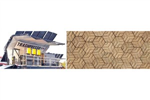 تبدیل زباله به کاشی در کارخانه بازیافت متحرک خورشیدی