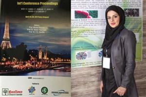 ارائه مقاله دانشجوی دکتری دانشگاه آزاد همدان در کنفرانس بین المللی شیمیایی
