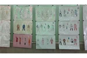 برپایی نمایشگاه آثار دانشجویان رشته طراحی دوخت سما خمینی شهر با هدف اشتغال زایی و کارآفرینی