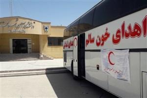اهداء خون توسط دانشجویان ، کارکنان و اساتید دانشگاه آزاد اسلامی واحد مرودشت