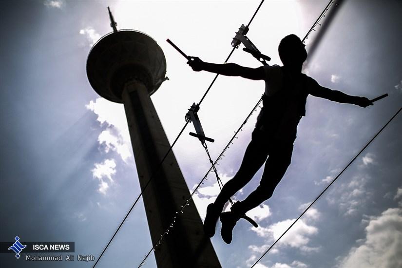 افتتاح زیپ لاین برج میلاد