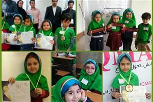 افتخار آفرینی دختران مدرسه سبز سما لاهیجان در مسابقات استانی IQMAS