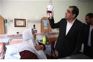 بازدید وزیر بهداشت از بیمارستان در حال ساخت زرند