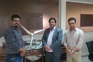ساخت نمونک توربین بادی در واحد دامغان