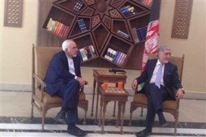 دیدار ظریف با رئیس اجرایی دولت افغانستان