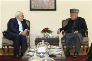دیدار ظریف با رئیس جمهور پیشین افغانستان