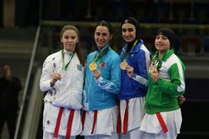 کاراته کا سنگین وزن تیم ملی بانوان به مدال برنز رسید