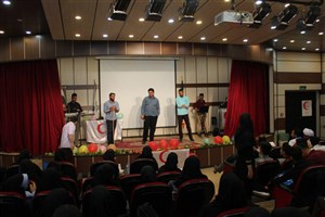 برگزاری  مراسم گرامیداشت هفته هلال احمر در واحد تهران شرق