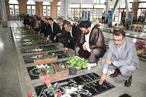 تجدید میثاق دانشگاه آزاد اسلامی رشت با شهدای انقلاب