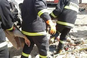 تصادف اتوبوس مسافربری ولو با پراید در جاده تهران-قم / مرگ پسر جوان در تصادف جاده ای
