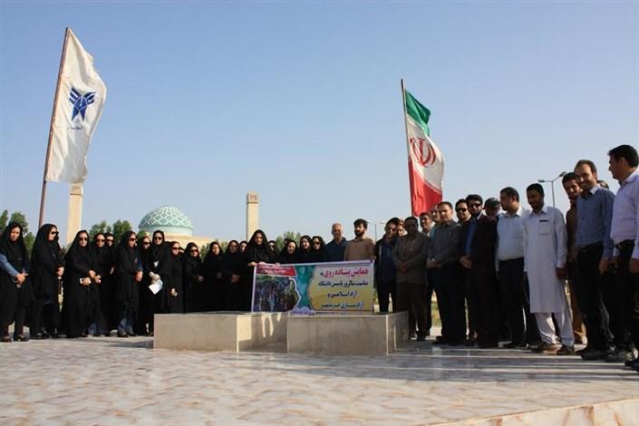 برگزاری همایش پیاده روی به مناسبت سالروز تاسیس دانشگاه آزاد اسلامی و حماسه فتح خرمشهر در واحد کهنوج