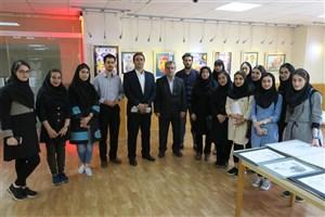 برگزاری نمایشگاه آثار دانشجویان رشته گرافیک دانشگاه آزاد اسلامی واحد رامسر
