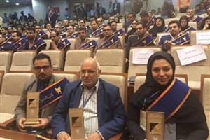 تجلیل از 3 برگزیده دانشگاه آزاد اسلامی علوم دارویی در جشنواره فرهیختگان